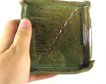 Handmade Ceramic Square Soap Dish