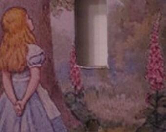 Alice in Wonderland Light Switch Cover