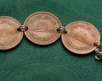 Japanese Coin Bracelet- FREE SHIPPING