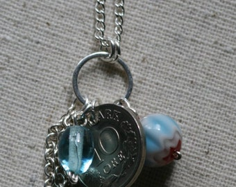 Talisman Necklace with Danish Coin- FREE SHIPPING