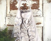 Ladies Rustic Chic Canvas Bag, Women's Shoulder and Travel Tote, Industrial Canvas, Handmade, Salvage Anthropologie Style