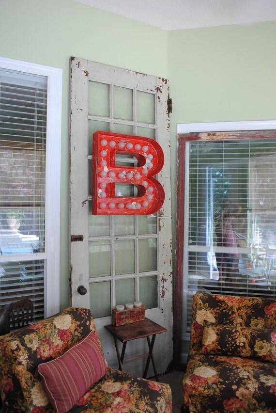 Large Huge Movie Vintage Marquee Art  bulb channel any letter Light Up Vintage Indoor