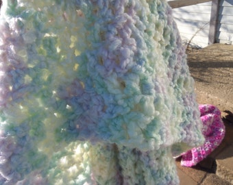 Pastel Crocheted Baby Blanket