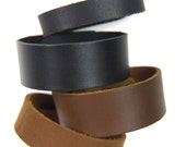 "Leather Bracelet Cuff Blank Supple High-Quality Leather in .5, .75 and 1"" widths"