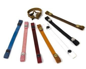 Leather Bracelet Strap, Loop-end Leather Bracelet Blank, ONE