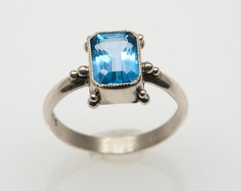 The Essential Blue Topaz Silver Ring