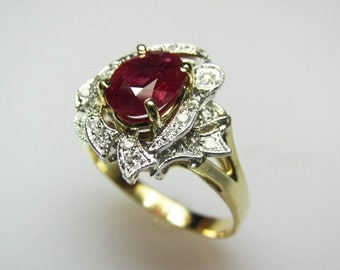 Fire & Ice Ruby Ring