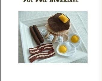 Fun Felt Food Pattern - Breakfast Time - PDF Format