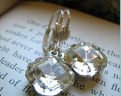 Vintage Crystal Estate Style Earrings with Sterling Silver - the Starlet - Mermaid Gift with Purchase