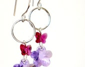 Clearance Sale... Spring Overthere... Simple Earrings Handmade with Swarovski Crystals
