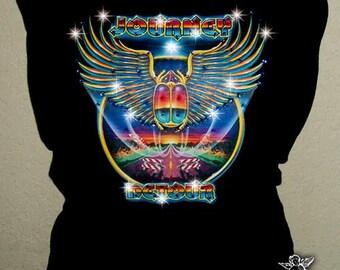 Journey Band Rhinestone Crystal Concert  T Tee Shirt Tank
