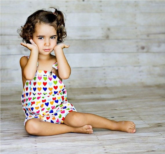 """Shortall in Bright Hearts - Featured on Daily Candy Kids """"Clothes that can take a tumble (dry)"""""""