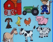 Old MacDonald Had a Farm Felt  Board Set  - Flannel Board Stories with animals