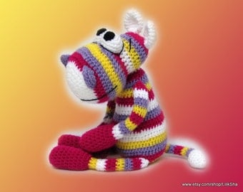 Crochet toy Amigurumi pattern - Rainbow Hippo