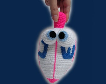 Amigurumi Pattern - Hanukkah dreidel .