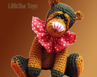 Crochet toy Amigurumi Pattern-Caramel Bear.