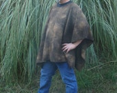 Brown Marble Fleece Poncho in Make My Day Clint Eastwood Style