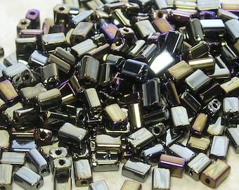 5x3mm Metallic Brown Iris Czech Glass Baby Pillow Beads 10 Grams (CS169)
