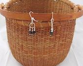 Gothic garnets...seriously dark garnet drop earrings