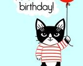 Hi Kitty Birthday Greeting Card