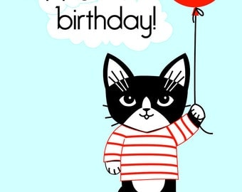 Hi Kitty Birthday Greeting Card