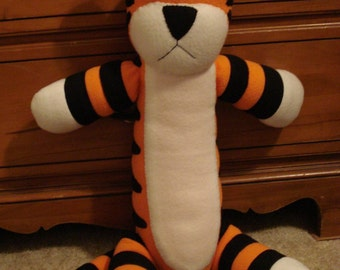 Hobbes plush toy sewing pattern
