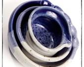 Blue Stoneware Nesting Bowls
