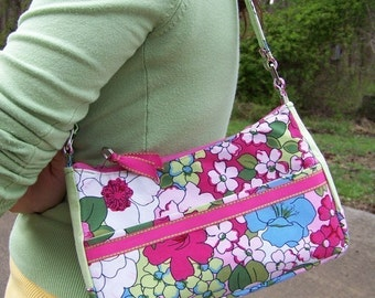 Pdf Pattern Small Purse with Tutorial 3 in 1 with lots of pockets with instant e-file download