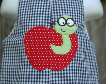 Apple and the Worm Back to School Romper Sizes 3mon-4T