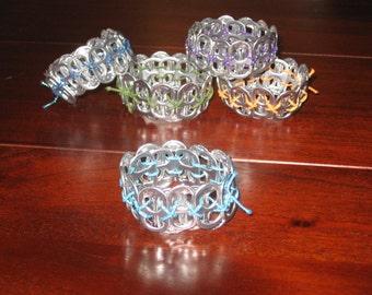 Pop Top Soda Tab Bracelet Sparkle elastic