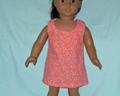 American Girl Dress 18 Inch Doll  Clothes  Made in USA  Sun Dress Frilly Flower Heart Print
