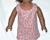 American Girl Doll clothes Dress 18 Inch Doll Pink Garden Party  Flowers  Summer Dress