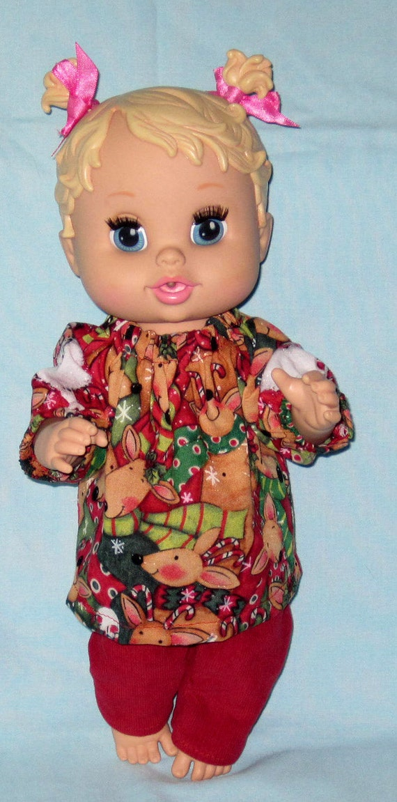 Items similar to Baby Alive Doll Clothes Santa and
