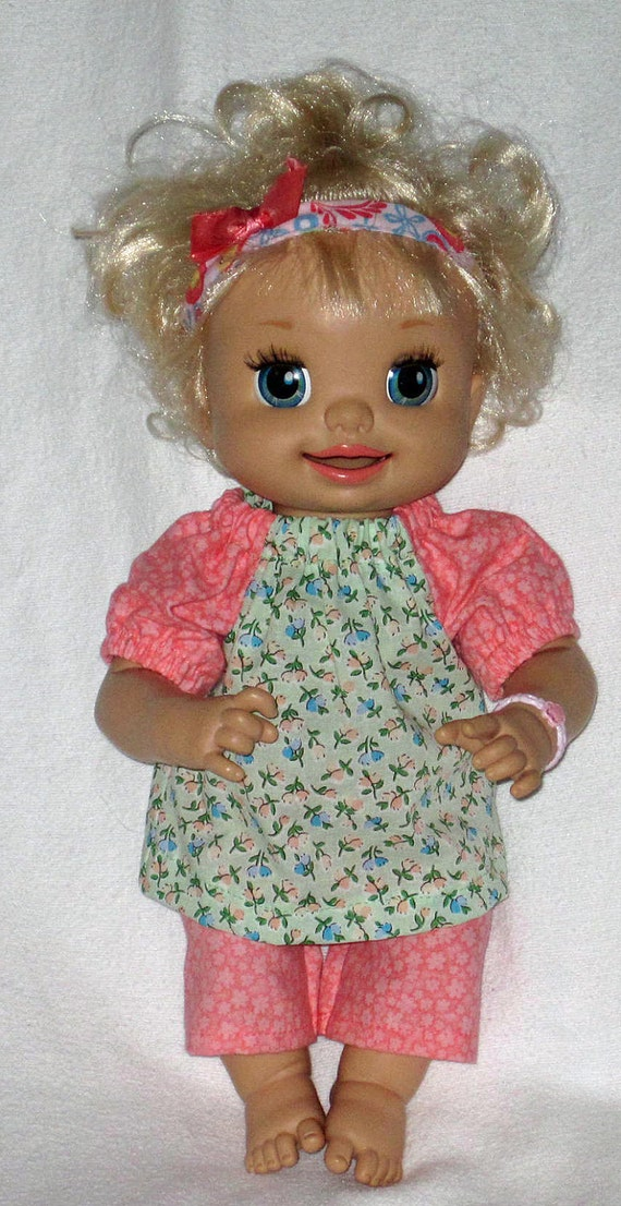 My Baby Alive Summer Flowers Top and Capri Set by