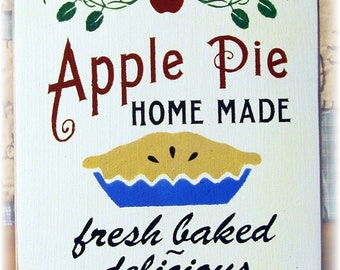 Apple Pie Homemade primitive wood sign NEW
