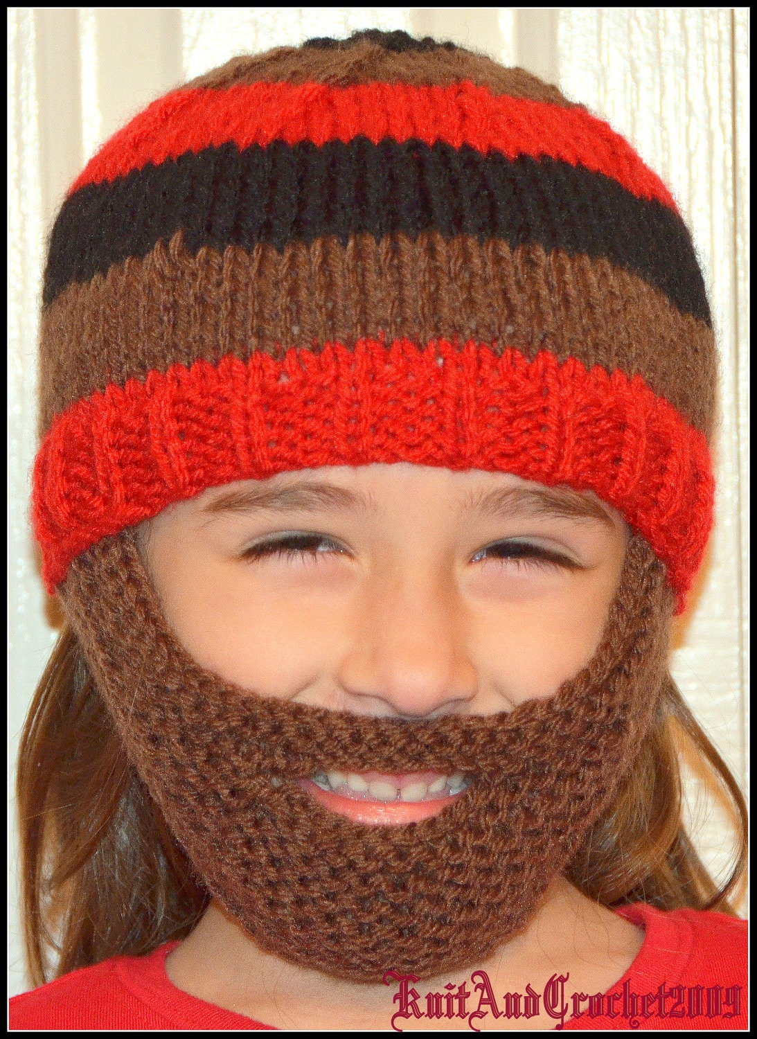 Men Scarf Knitting Patterns : Beard Hat Knitted Beard Beanie Kids-All Sizes All Colors