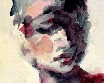 """Giclee Print of a Watercolor Original Painting 8 x 10  """"Mae's Hat"""""""