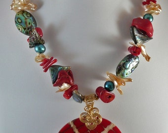 Abalone Sunrise Necklace
