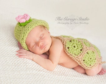 Newborn Set Little Turtle Photo Prop