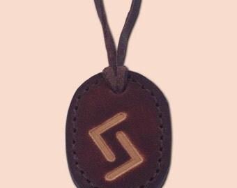 Jera - The Rune of Success and Continuity - Asatru Jewelry - Leather Rune Pendant - Rune Amulet Necklace - Viking Rune Necklace
