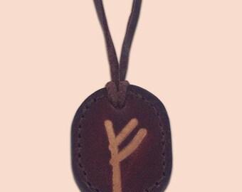 Fehu - The Rune of Wealth and Fulfilment - Rune Amulet Necklace - Viking Fehu Rune Necklace - Rune Pendant - Asatru Jewelry