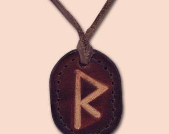 Raido - The Traveler's Rune - Rune Amulet Necklace - Viking Isa Rune Necklace - Rune Pendant - Asatru Jewelry