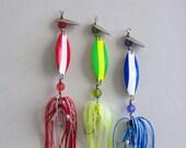 Mens Fishing Lure Gift Double Spinner 3pk