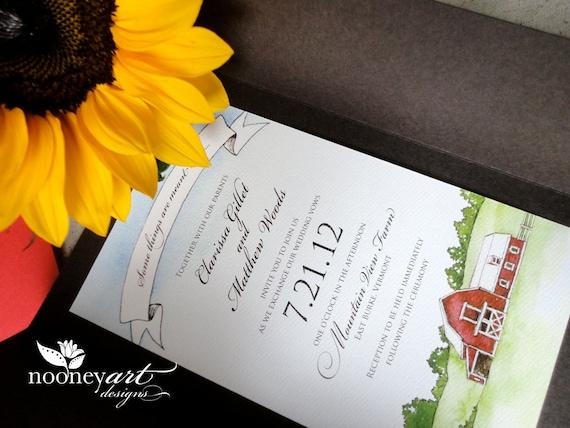 Farm Style Wedding Invitations: Handmade Country Farm Wedding