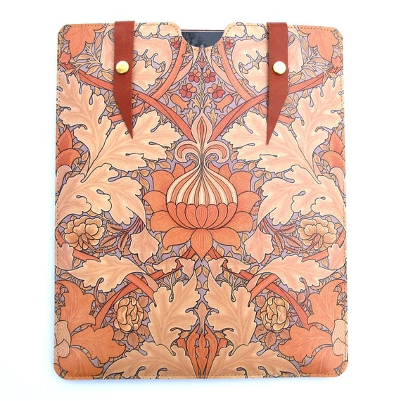 Leather New iPad case - William Morris design