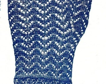 Lace mittens vintage knitting pattern c1890s pdf instant download