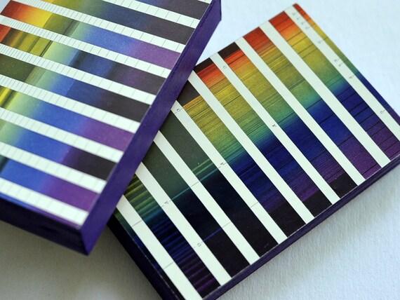 1895 Set of Two Brilliantly Coloured Colour Spectrum ChromolithoBLOCKs (Trademarked).