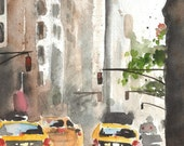 Print - Watercolor Painting - Madison Avenue - New York City