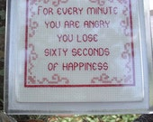 For Every Minute You're Angry . . .