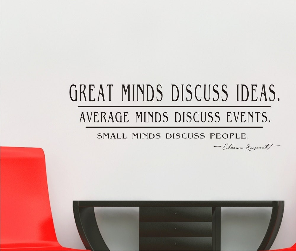 Small Minds Discuss People Quote: Request A Custom Order And Have Something Made Just For You